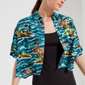 Urban Outfitters Cropped Hawaiian Shirt